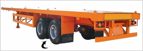 Semi Trailer with Tyre monitor